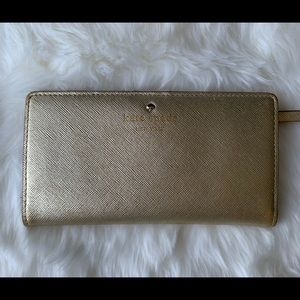 Kate Spade Luxurious Gold Wallet